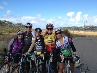Rob Meadows biking with friends